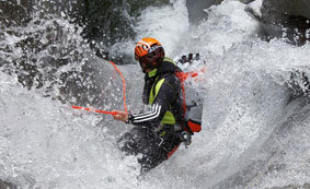 Canyoning in outdoorpark Area 47