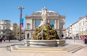 Place de la Comedie in Montpellier