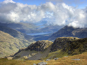 De Arrochar Alps met Loch Lomond